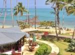 Beach and restaurant